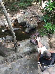 relaxing creek side