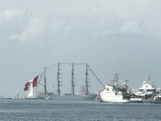 tall ships leaving