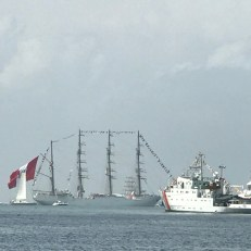 tall ships leaving