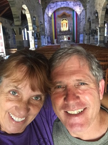 a church selfie