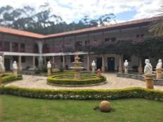 monastary courtyard statues