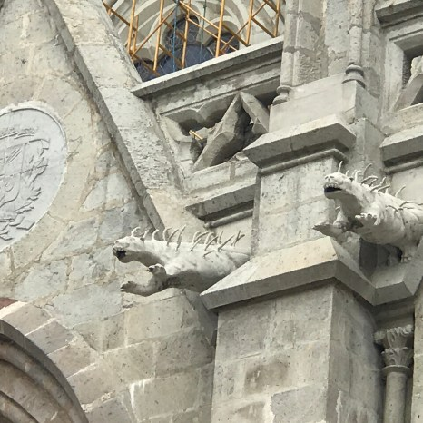 basilica gargoyles iguanas
