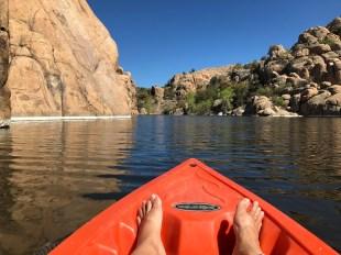 kayaking feet
