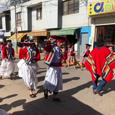 dancers men parade