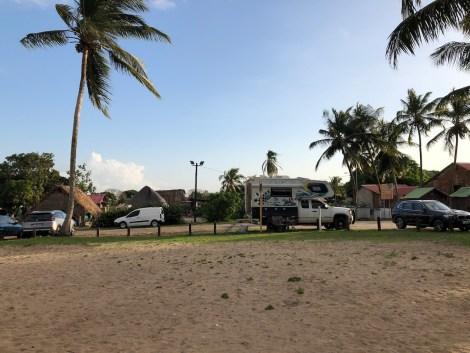 beach campsite