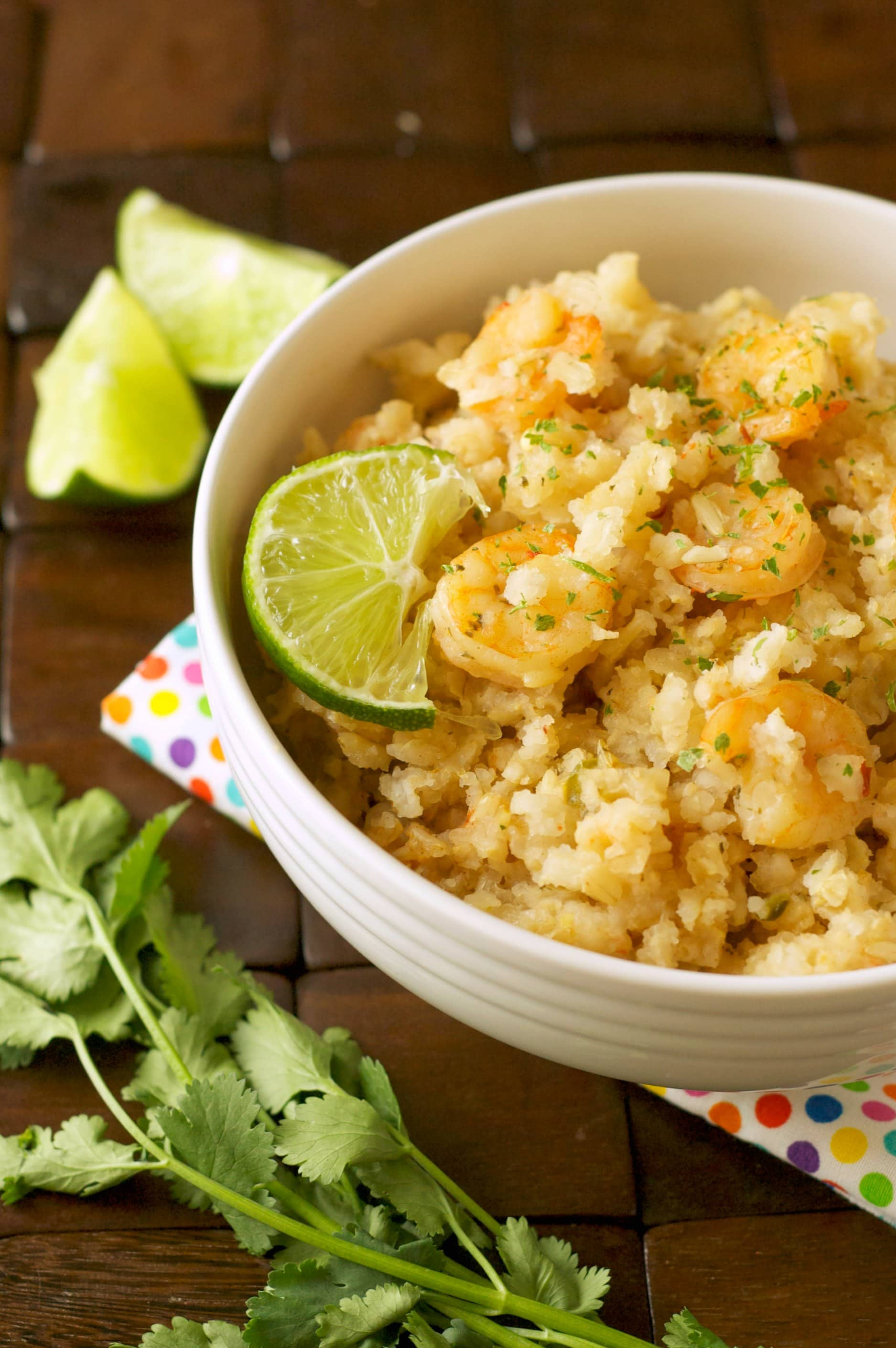 Slow Cooker Chili Lime Shrimp and Rice Bowls