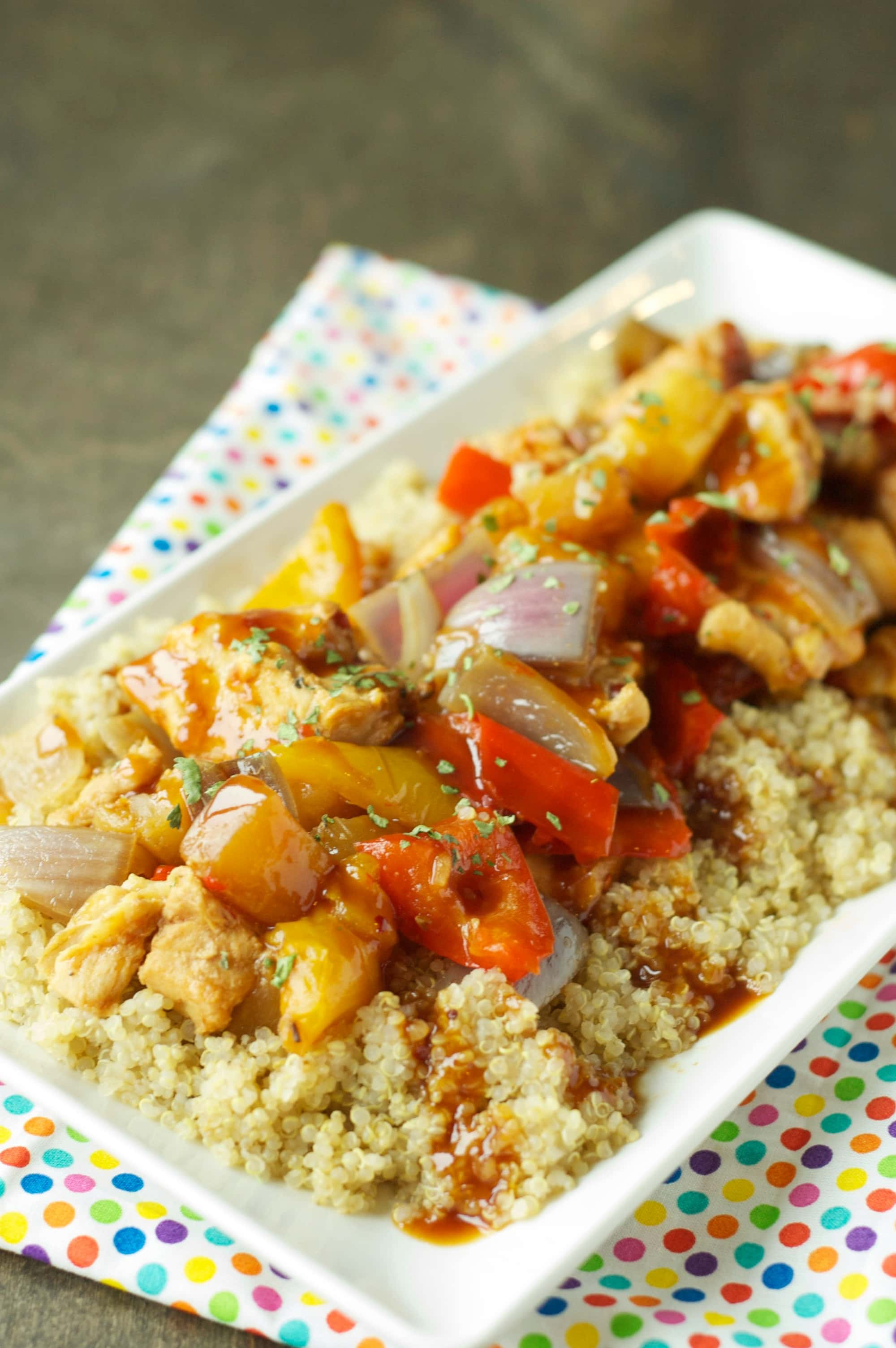 Slow Cooker Pineapple Chicken and Veggies