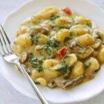 Quick Dinners in Under 30!  Creamy White Cheddar Skillet Gnocchi