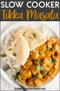 Now one of the most delicious meals from your favorite Indian restaurant can be made in the comfort of your own home, and with the ease of a slow cooker.  This Slow Cooker Tikka Masala recipe is one of the best!  #slowcookergourmet #slowcooker #tikkamasala #chicken