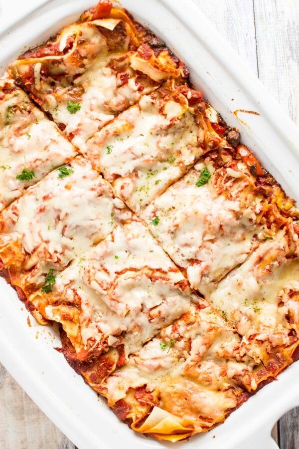 Slow Cooker Veggie Lasagna - Slow Cooker Gourmet