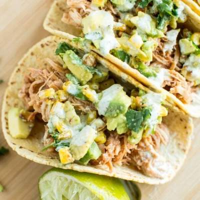 Slow Cooker Raspberry Chipotle Chicken Tacos