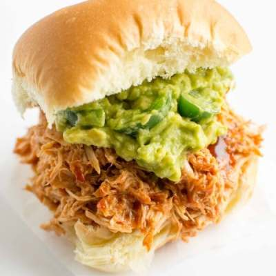 Slow Cooker Sweet and Smokey Pulled Chicken