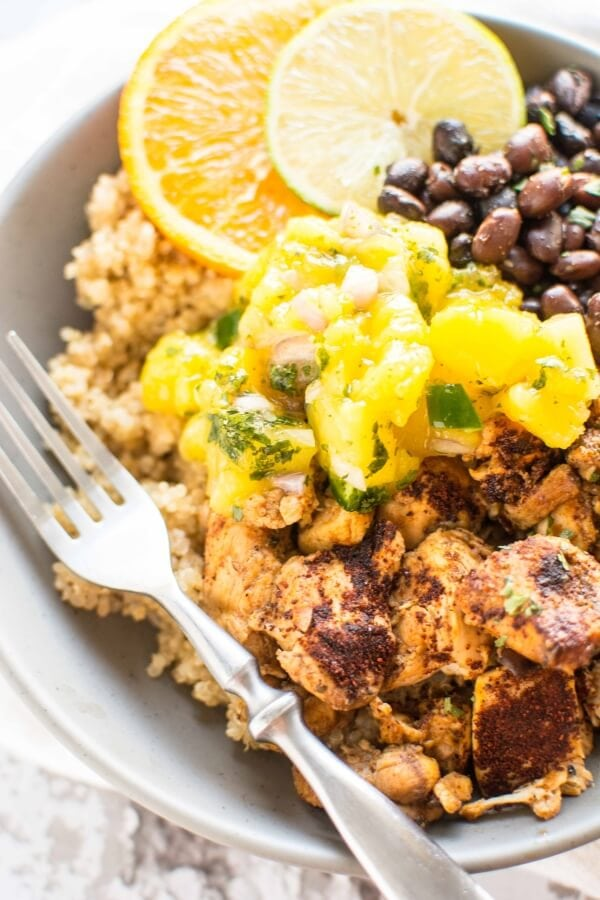 Slow Cooker Cuban Chicken Bowls