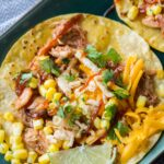 Slow Cooker BBQ Chicken Tacos