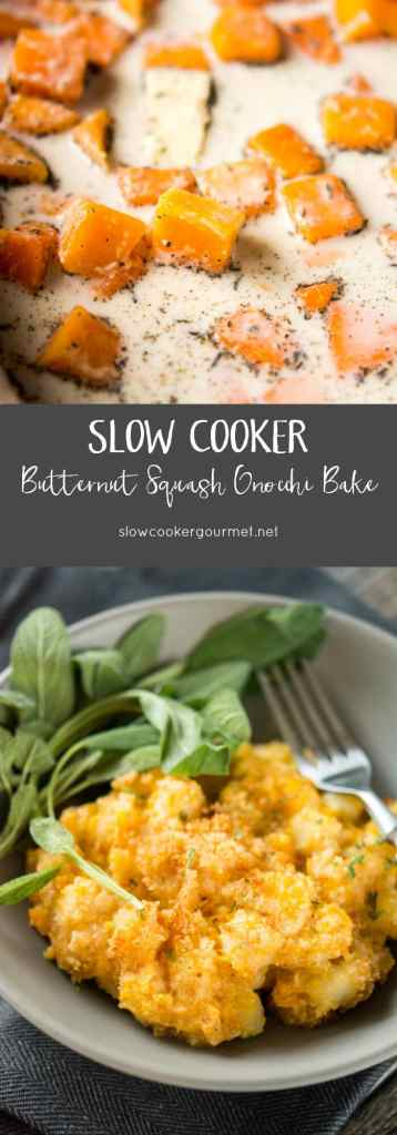 Slow Cooker Butternut Squash Gnocchi Bake
