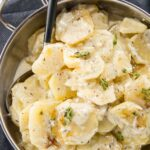 Slow Cooker Gratin Potatoes