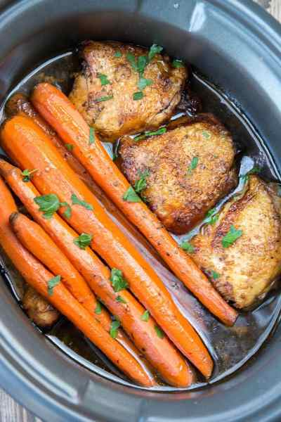 Slow Cooker Balsamic Chicken with Carrots