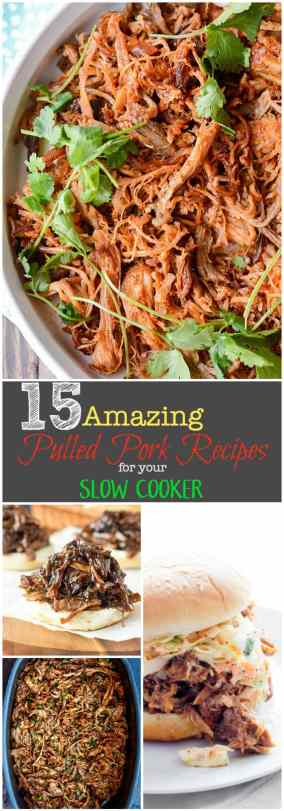 Everyone has a favorite pulled pork recipe, what's yours? We've rounded up 15 Amazing Slow Cooker Pulled Pork Recipes to simplify your life!