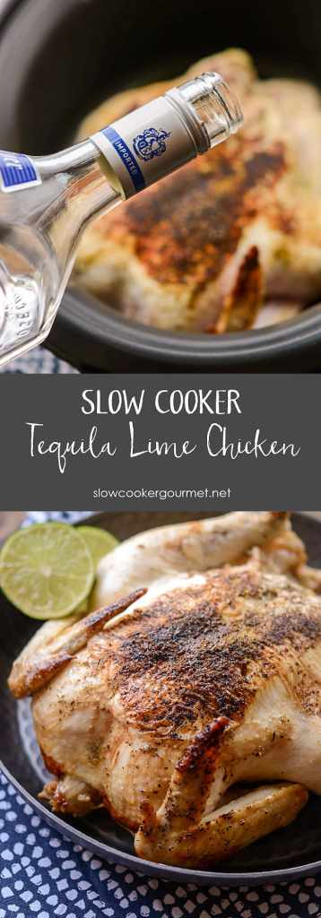 Slow Cooker Tequila Lime Chicken pin