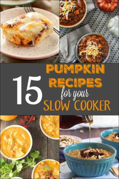 15 Pumpkin Recipes for your Slow Cooker