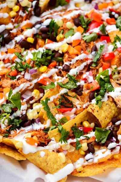 Slow Cooker Chicken Enchilada Nachos