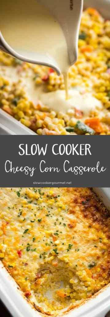Slow Cooker Cheesy Corn Casserole