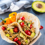 Easiest Slow Cooker Verde Chicken Tacos