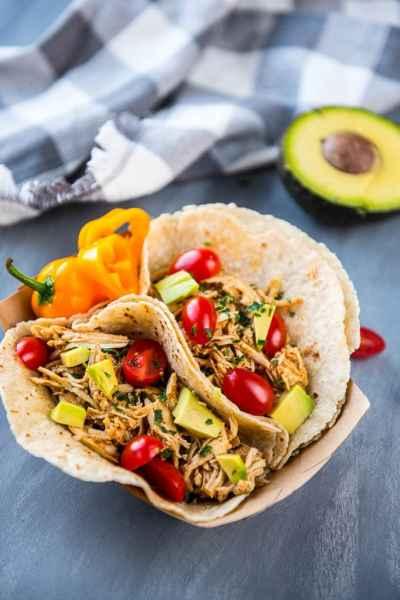 Easiest Slow Cooker Verde Chicken Tacos
