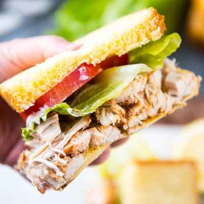 Slow Cooker Homemade Turkey Lunchmeat Sandwiches