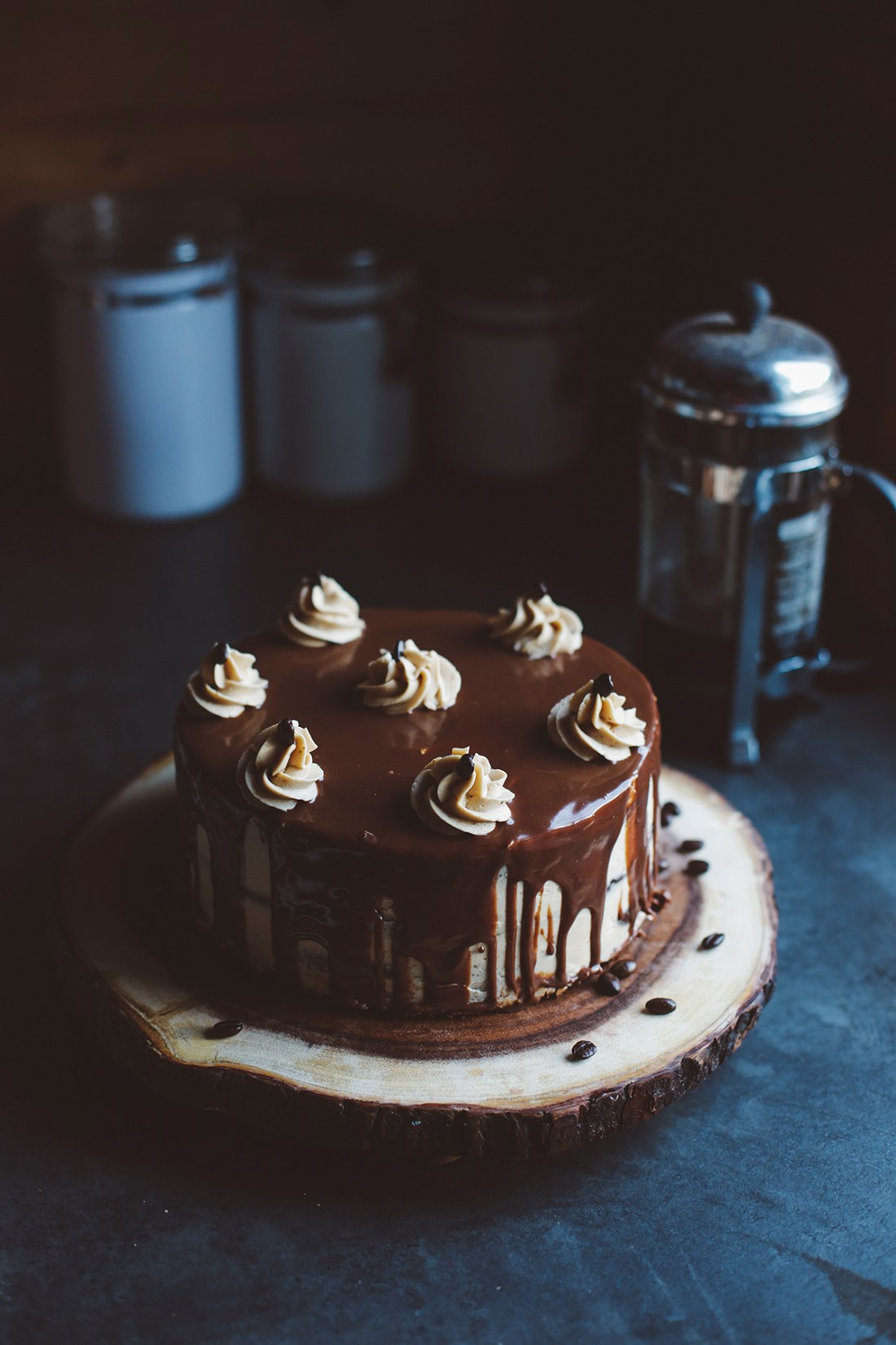 Chocolate cake with coffee buttercream