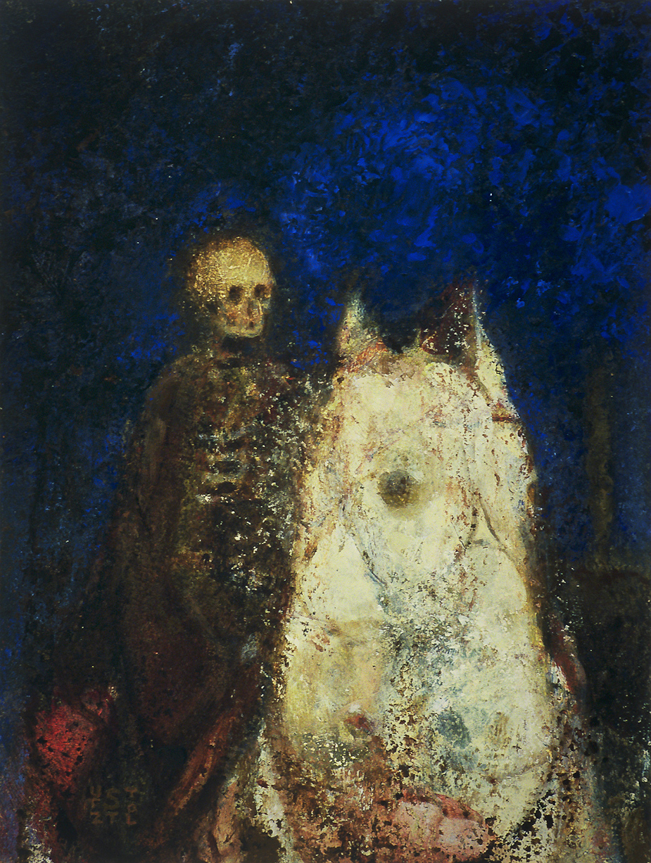 Pale Horse by Randall Stoltzfus | 2004, Oil on panel, 10 by 7.5 inches.