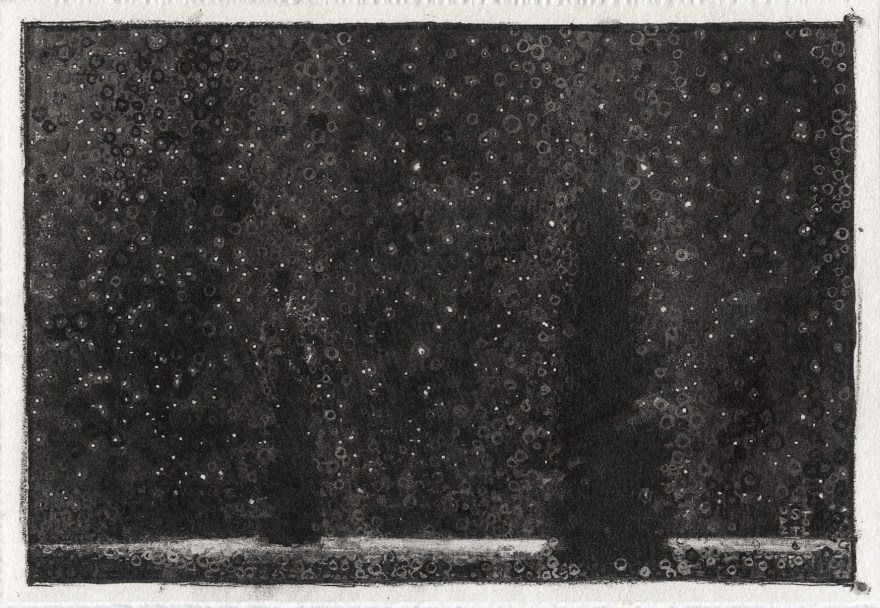 """Peace, 2012 by Randall Stoltzfus, carbon digital print on prepared paper, 5""""x7"""""""