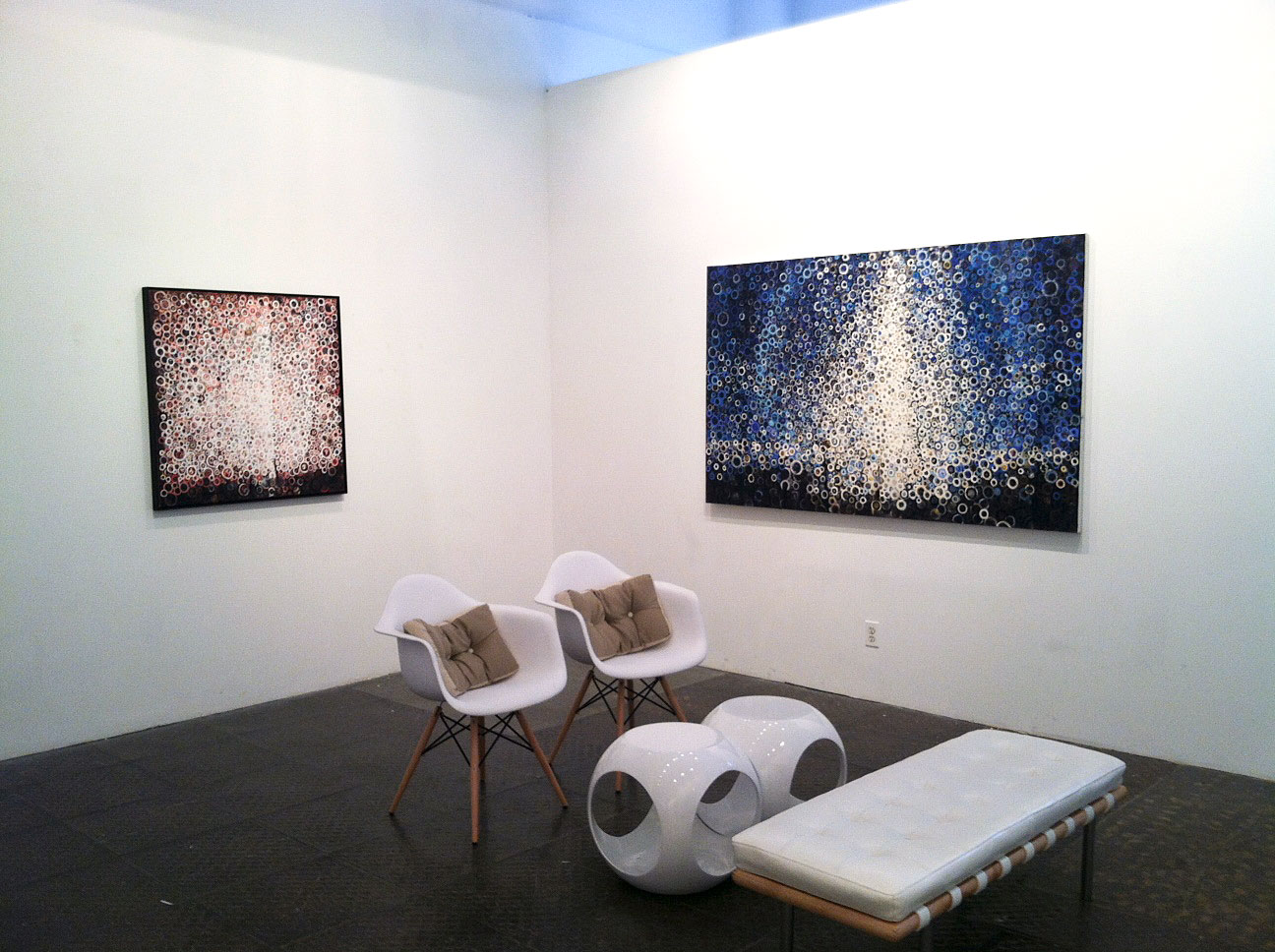 Summer show at Blank Space Gallery, Manhattan, 2012. Paintings by Randall Stoltzfus
