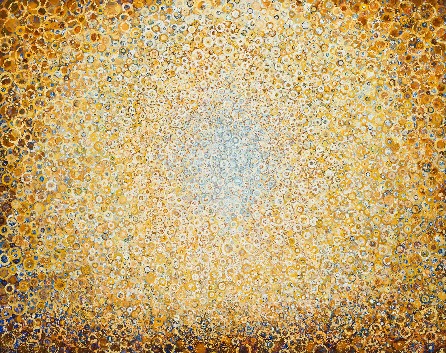 """Morir Soñando"" by Randall Stoltzfus, 2013, acrylic dispersion and oil on canvas, 48 x 60 inches"