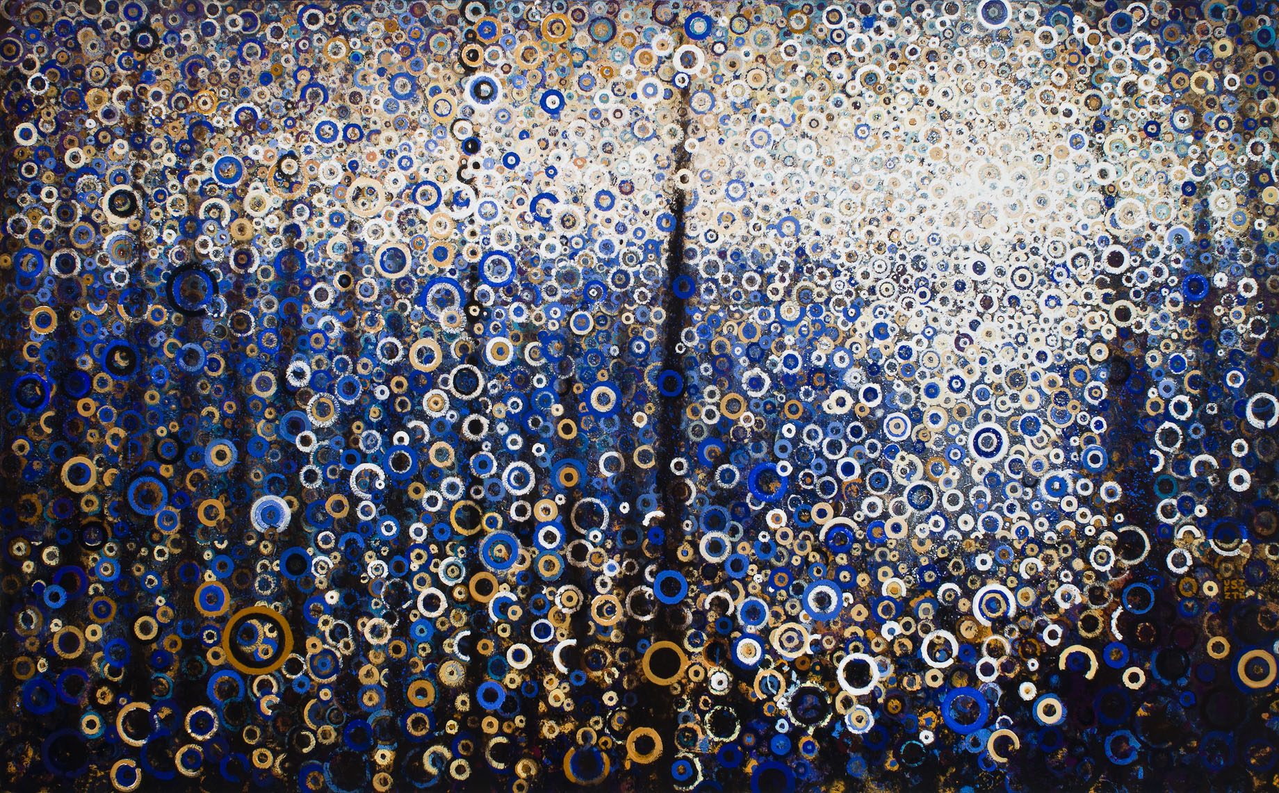 """Seagate"" by Randall Stoltzfus, 2013, acrylic dispersion on canvas, 60 by 96 inches"