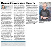 Mennonites Embrace the Arts 2 7 14