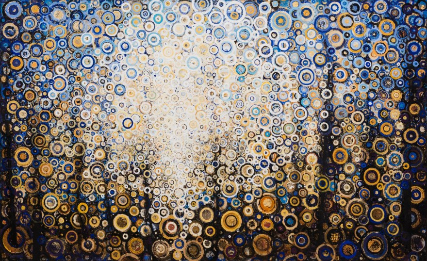Wold, 2015. Acrylic dispersion on polymer canvas, 37 x 60 inches.
