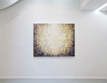 """""""Corona"""" hangs at Blank Space Gallery in New York during spring 2016 solo show"""