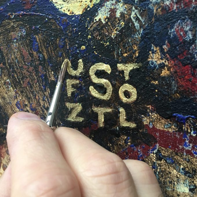 Signed, Sealed | Randall Stoltzfus paints his signature on a completed painting