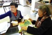 Edith Cheung and Yoshiko Wada preparing for the workshop