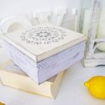 Pudełko na herbatę w stylu skandynawskim