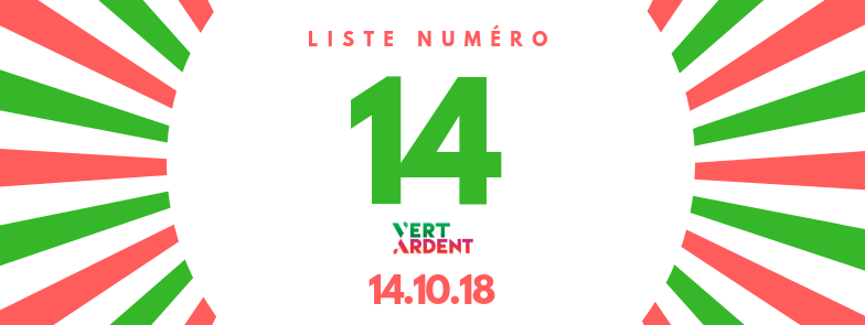 Vert Ardent - Liège - Elections 2018 - Communales 2018