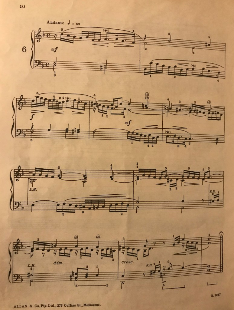 Bach Small Preludes Page