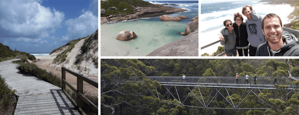 Peaceful Bay, Elephant Cove et Tree top Walk - Sud Ouest de l'Australie