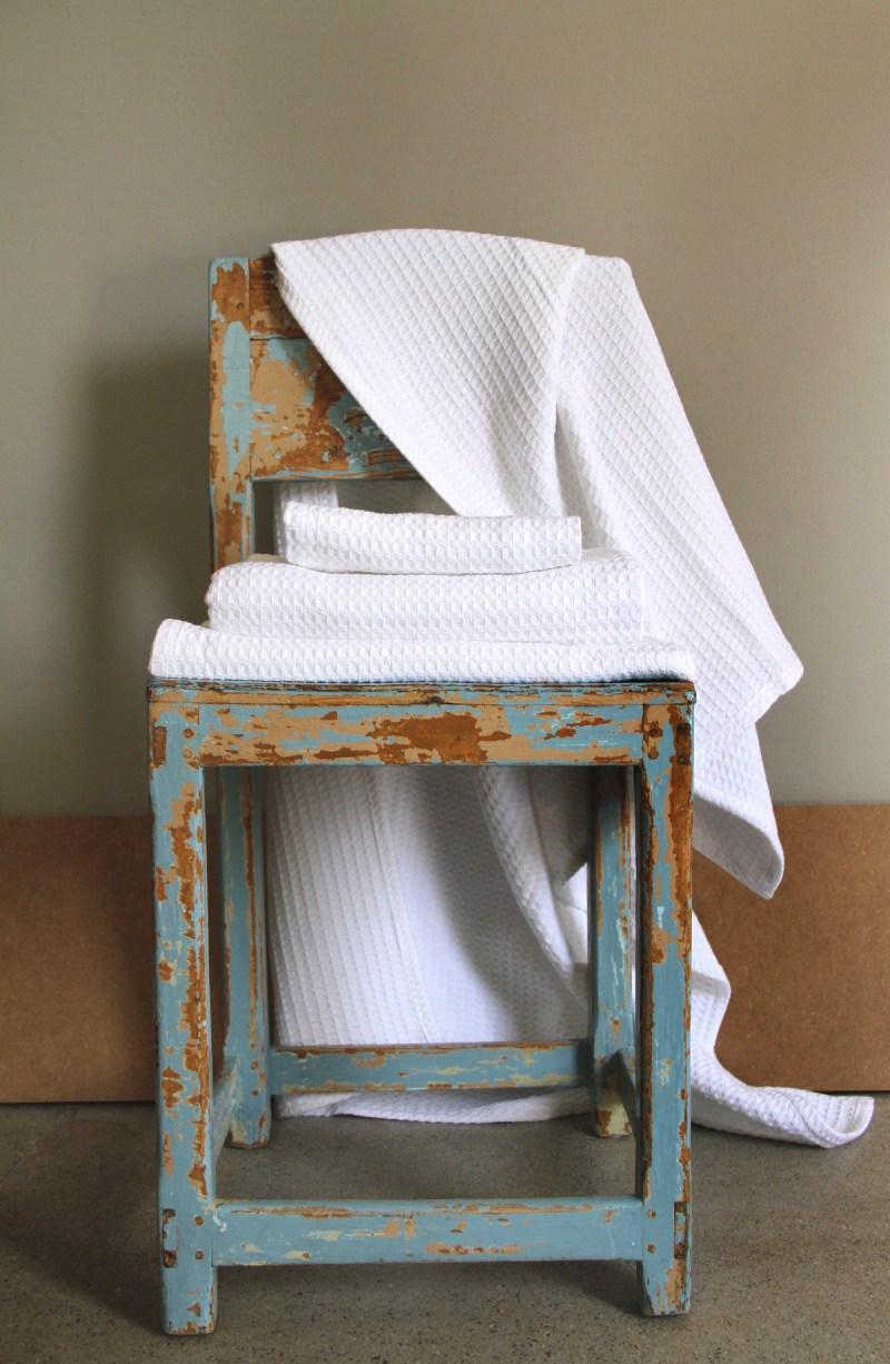 Våfflad handduk