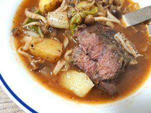 低温調理牛すね肉で無添加体に優しいビーフシチュー