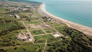 ancient Roman town on the coast