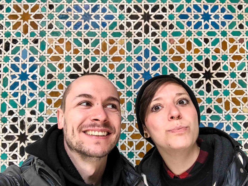 colorful tiles selfie