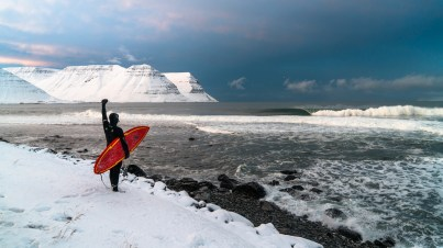 a surfer waiting for the best wave