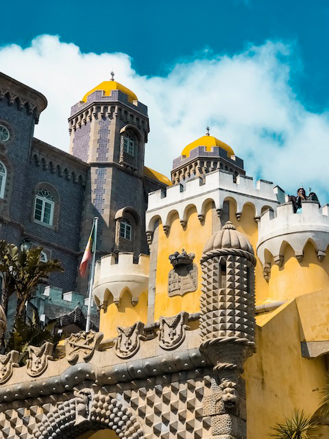 yellow and stone palace